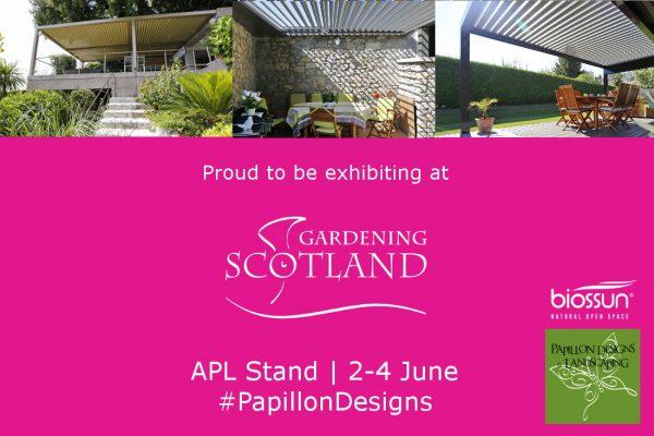 Papillon exhibiting at Gardening Scotland