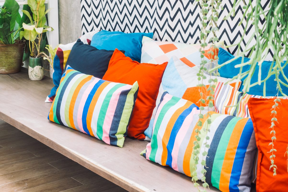 Outdoor garden cushions