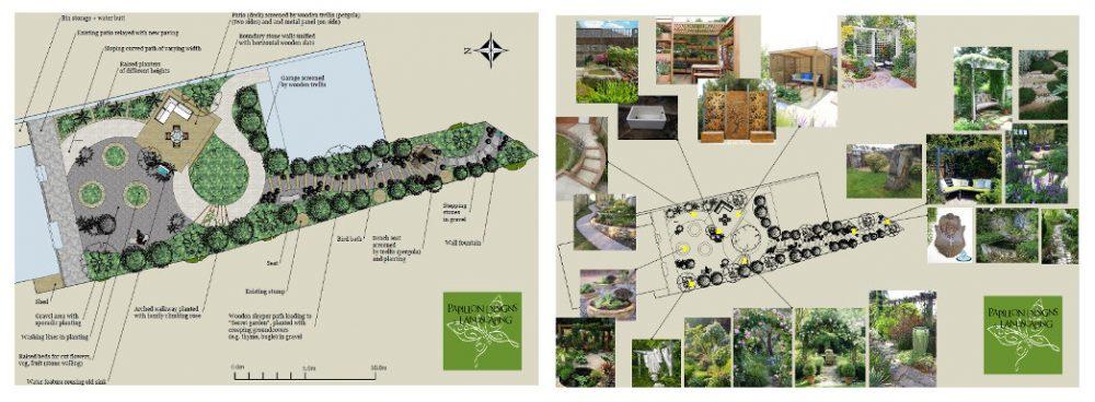 Town garden designs for Craigton Road, Aberdeen