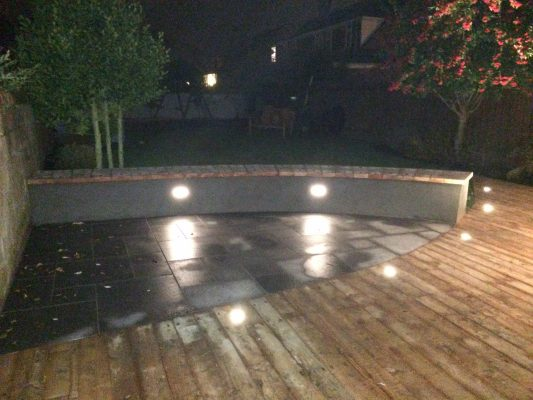 Lightening on decking and seating