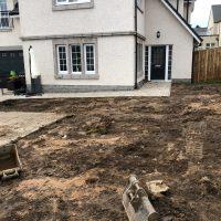 Front garden under construction